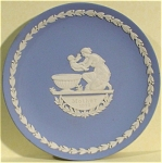 Click here to enlarge image and see more about item pt00746: 1973 Wedgwood Jasper Mother Plate