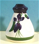 Click here to enlarge image and see more about item pt00772: Pottery Devon Violets Bottle