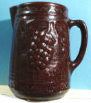 Click here to enlarge image and see more about item pt00790: Star Stoneware Grape Trellis Pitcher