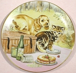 Click here to enlarge image and see more about item pt00795: Royal Worcester Cooper Plate Picnic Prowlers