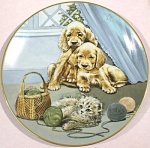 Click to view larger image of Royal Worcester Plate, A Moment to Unwind (Image1)