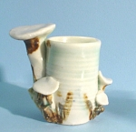 Handcrafted Pottery Mushroom Toothpick Holder