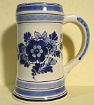 Click here to enlarge image and see more about item pt00836: Delft Pottery Stein