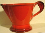 Click here to enlarge image and see more about item pt00839: Metlox Red Rooster Creamer