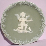 Click to view larger image of Jasperware Cherub Wall Hanger Plate (Image1)