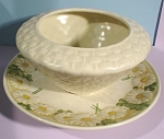 Click here to enlarge image and see more about item pt00882: Metlox Daisy Pattern Gravy Boat