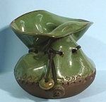 Fun Studio Art Pottery Tie String Bag Type Vase
