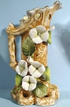 Click to view larger image of Porcelain Trunk with Flowers Vase (Image1)