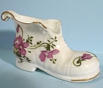 Click here to enlarge image and see more about item pt00953: Small Porcelain Boot Planter