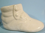 1930s/1940s White Pottery Baby Shoe Planter