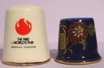 Click here to enlarge image and see more about item pt00982: 1982 Worlds Fair and Las Vegas Thimbles
