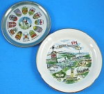 Click here to enlarge image and see more about item pt01007m: Two Miniature Canadian Souvenir Plates