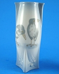 Small Porcelain Crow Raven Design Vase
