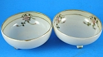 Handpainted Porcelain Nut Cup Pair
