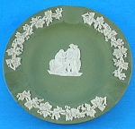 Click here to enlarge image and see more about item pt01047: Wedgwood 1958 Green Jasperware Ashtray