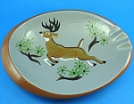 Click here to enlarge image and see more about item pt01050: Stangl Pottery Sportsmens Deer Ashtray