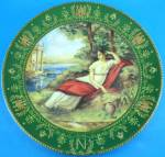Click here to enlarge image and see more about item pt01060: Darceau Limoges 1983 Josephine Plate