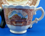 Click to view larger image of Vernon Kilns Mini Jefferson Memorial Cup and Saucer (Image2)