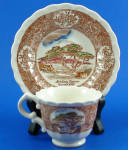 Click to view larger image of Vernon Kilns Monterey Cypress Cup and Saucer (Image1)