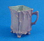Click here to enlarge image and see more about item pt01089: Miniature Porcelain Purple Luster Finish Pitcher
