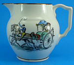 Gray's Pottery Pitcher with Carriage Decoration