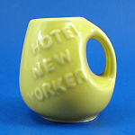 Pottery Miniature Hotel New Yorker Toothpick Holder