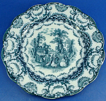 Click to view larger image of Sampson Hancock & Sons Small Valencia Plate - Flow (Image1)