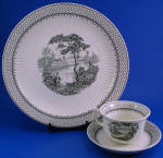 Click to view larger image of Adams and Son Minuet Ironstone Plate Cup Saucer (Image1)