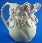 Click here to enlarge image and see more about item pt01110: Beautiful Delicate Earthenware Iris Pitcher