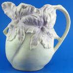 Click to view larger image of Beautiful Delicate Earthenware Iris Pitcher (Image2)