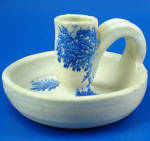Click here to enlarge image and see more about item pt01112: Holly Hill Pottery Candle Holder