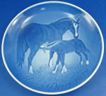 Click here to enlarge image and see more about item pt01171: Bing & Grondahl 1972 Mothers Day Plate, Horses