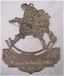 Click here to enlarge image and see more about item s00042: McDonalds 1983 Rockwell Metal Ornament