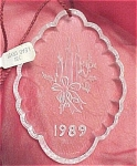 Click to view larger image of 1989 Speigel Lead Crystal Christmas Ornament (Image1)