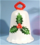 Click here to enlarge image and see more about item s00080: 1960s/1970s Howard Holt Christmas Bell Ornament