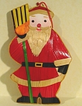 Click here to enlarge image and see more about item s00093: Straw Santa Ornament