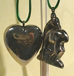 Silverplate Deer and Heart Ornaments