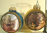 Click to view larger image of Two Glass Christmas Ornaments (Image1)