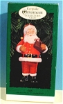 Click here to enlarge image and see more about item s00149: Hallmark Ornament Collector's Club Santa, 1996