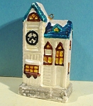 Click to view larger image of New Bone China House Christmas Ornament (Image1)