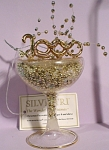 Click here to enlarge image and see more about item s00179: Silvestri New Year 2000 Champagne Glass Ornament