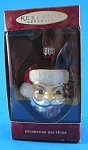 Click here to enlarge image and see more about item s00216: Hallmark Blown Glass Lil Mister Claus Ornament