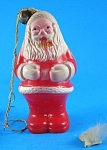 Click to view larger image of Vintage Plastic Santa Rattle Ornament (Image1)