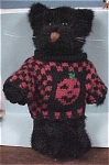 Click here to enlarge image and see more about item t00198: Boyds Miniature Halloween Black Cat