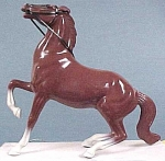 Click here to enlarge image and see more about item t00201: Hartland Semi-rearing Chestnut Horse