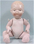 Click here to enlarge image and see more about item t00222: 1940s/1950s Japan Bisque Baby Doll