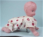 Click here to enlarge image and see more about item t00230: 1950s/1960s Japan Windup Crawling Baby