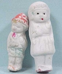 Two Vintage All Bisque Dolls