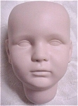 Unfinished Reproduction Bisque Doll's Head