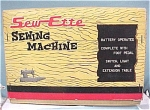 Click here to enlarge image and see more about item t00945: 1950s/1960s Toy Sew-Ette Electric Sewing Machine